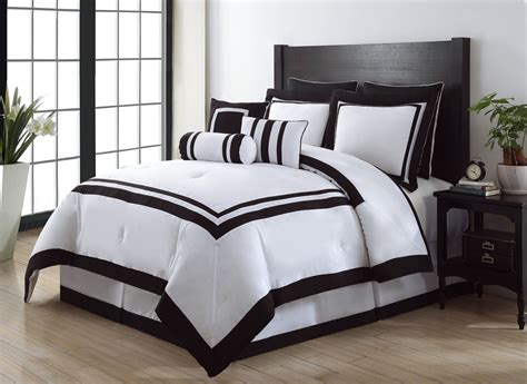 black and white comforter sets get alluring visage by displaying a white comforter sets
