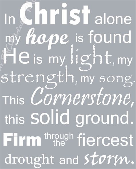 printable lyrics in christ alone 1000 ideas about in christ alone on pinterest christ