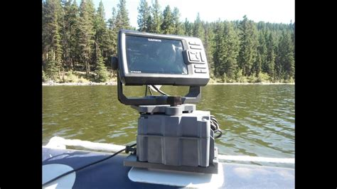 jon boat depth finder mounts glue on fish finder mount with bolt on magnetic transducer