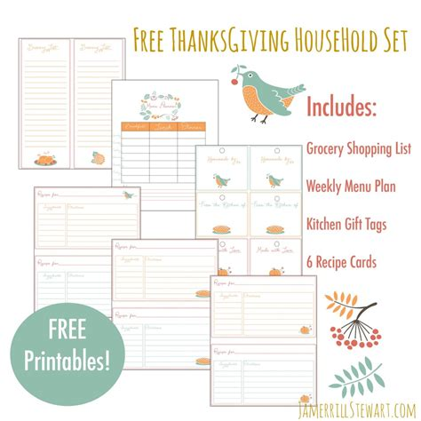 printable thanksgiving grocery shopping list free thanksgiving household printables set grocery