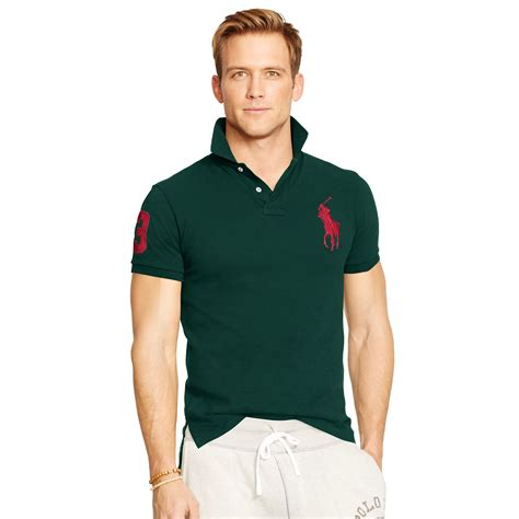 Tshirt I Ny Bigsize Ld 100 Cm Fit Size Xl lyst polo ralph custom fit big pony polo in green
