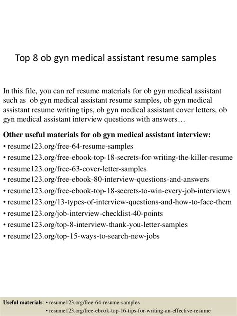 cover letter for ob gyn position top 8 ob gyn assistant resume sles