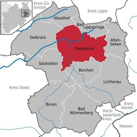 paderborn map paderborn