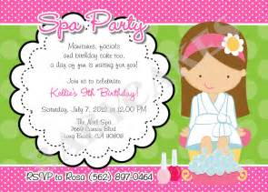 items similar to spa birthday invitation diy print your own choose your