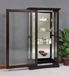 Curio Shelves Mission Sliding Door Curio Cabinet