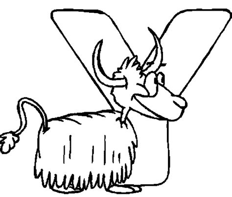 coloring pages for y alphabet y coloring page