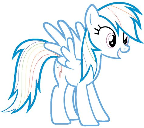 rainbow pony coloring pages coloring pages for rainbow dash coloring pages rainbow dash