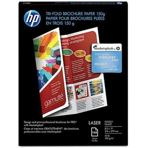 How To Make A Brochure With Paper - macmall hp inc laser glossy tri fold brochure paper 8