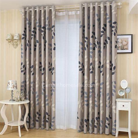 modern print curtains modern curtains gray leaf print polyester room darkening