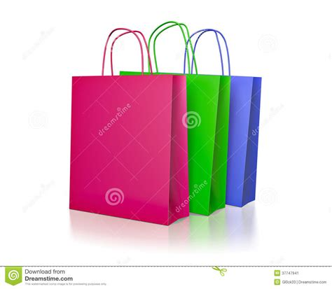 colored paper bags colored paper shopping bags stock image image 37747941