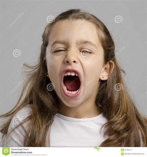 little girl mouth open little girl with open mouth stock photo image of female