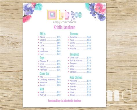 Handcrafted Homes Price List - handcrafted homes price list price list poster custom