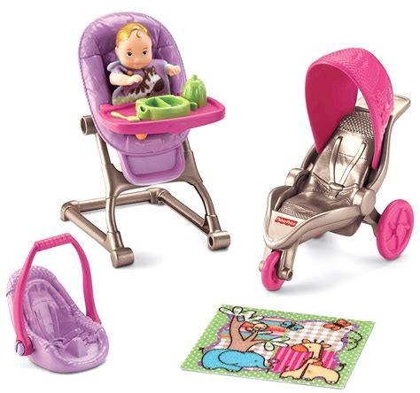 Fisher Price Loving Family Everything Baby Doll Stroller Set Ultimate Ashlee