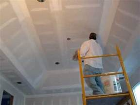 how to third coat spackle a master bed room tray ceiling