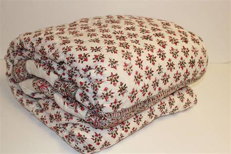 Cotton Filled Quilt by Jaipuri Block Printed Cotton Filled Quilt By Reason Season
