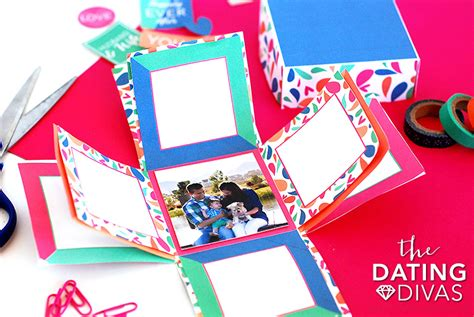 Explosion Box Birthdayanniversary how to make an explosion box card the dating divas