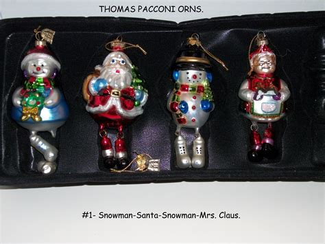 thomas pacconi christmas ornaments sets mixed lots