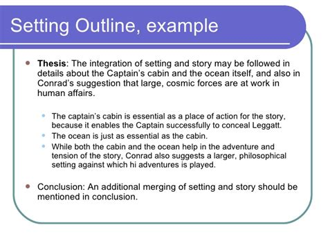 Types Of Literary Essays by Setting Analysis Essay