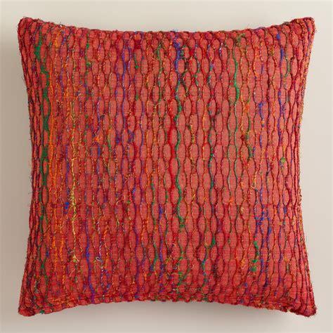 burnt orange honeycomb throw pillow world market