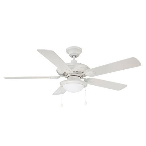 Shop Kendal Lighting Builder S Choice 52 In White Indoor Ceiling Fan Light Kit White