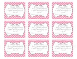 diaper raffle ticket grey and pink chevron