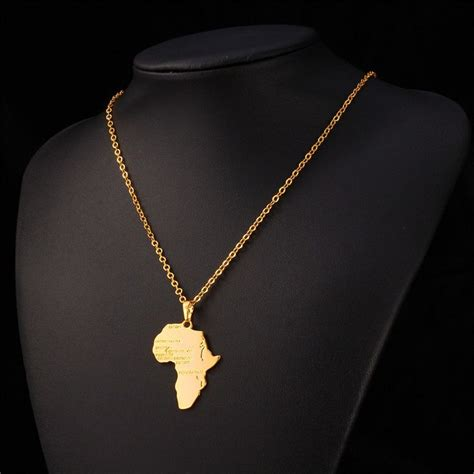 africa map gold necklace 1000 ideas about fashion on