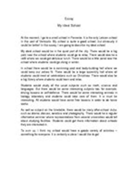 My Ideal Town Essay by My Ideal School Essays Literature Id 347186