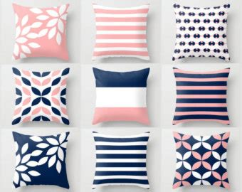 pink striped pillow etsy
