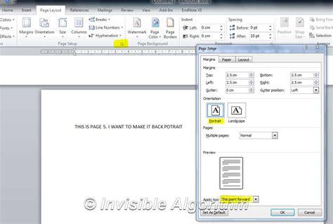 Definition Landscape Microsoft Word Microsoft Word Set Landscape Only On Single Page