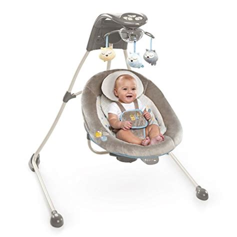 baby swing with lights and music ingenuity inlighten cradling swing winslow baby shop