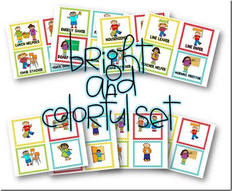 printable job cards for classroom classroom job display cards free and editable a year