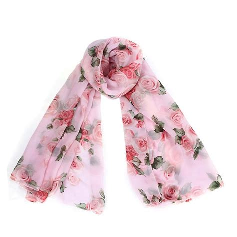 Scarf H1 by H1 Voile Soft Silk Chiffon Shawl Wrap