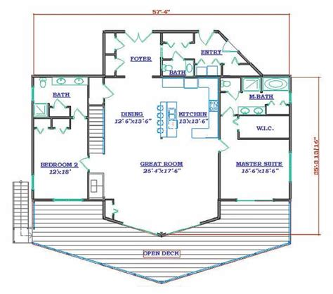 lake cabin floor plans grand lake house plan by hilltop log timber homes
