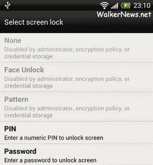 android pattern unlock disabled by administrator activate android storage encryption will disable face