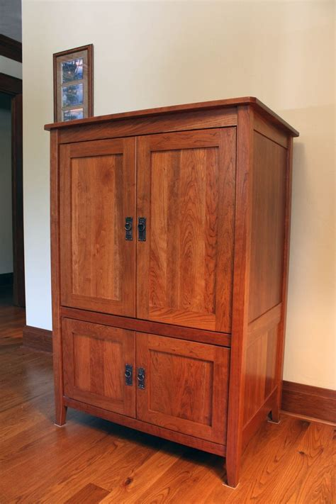 Custom Armoire Or Media Cabinet by Montana Cabinet & Canoe