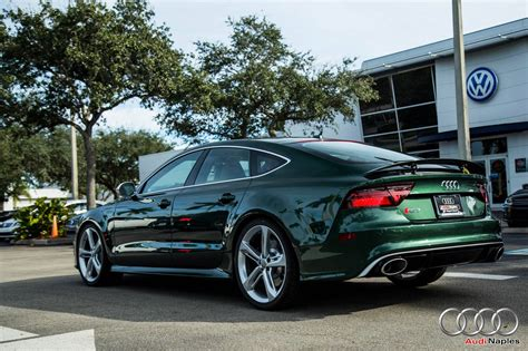 green bentley 2017 2016 audi rs7 in verdant green looks like a bentley