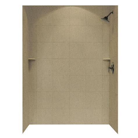 swanstone    square tile shower wall surround