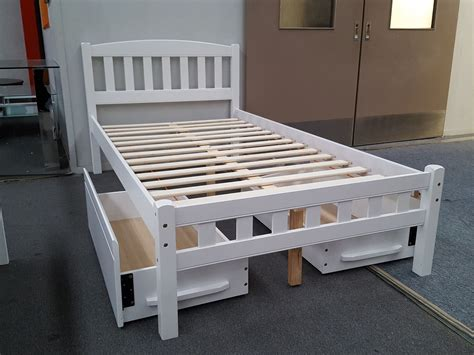 King Single Bed With Drawers by Zara King Single Bed In White With 2x Drawers Furniture