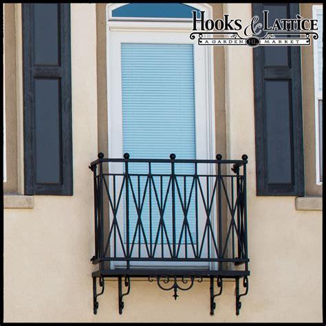 decorative iron balcony exterior iron accents hooks and