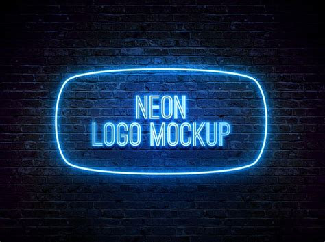 17 Best Images About Photoshop Mockups On Pinterest Logos Paper And Business Cards Neon Sign Photoshop Template