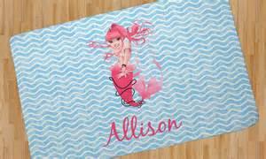 mermaid area rug personalized baby n toddler