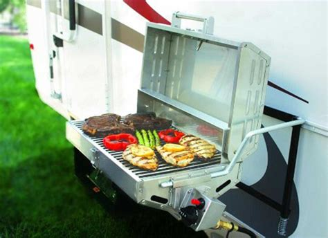propane gas grill stainless steel portable rv backyard