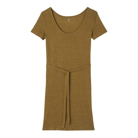 Dress With Belt W4975nt D Khaki khaki linen sleeve tie belt dress brandalley