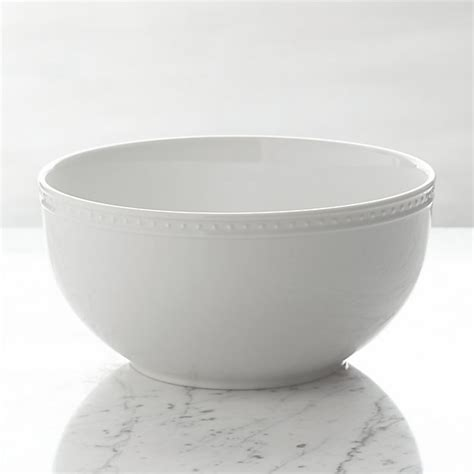 Kitchen Furniture White by Staccato Serving Bowl Crate And Barrel