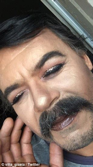 Maybe Begging For K Fed To Come Back by Gives Mustached A Glam Makeover Using