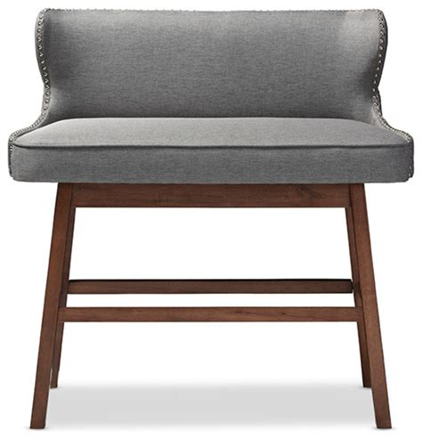 tufted dining bench with back shop houzz baxton studio gradisca fabric button tufted