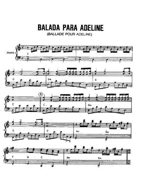 BALADA PARA ADELINA PARTITURA PIANO DESCARGAR GRATIS