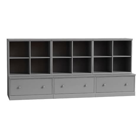 3 drawer dresser with cubbies cameron 3 cubby 3 drawer base storage system pottery