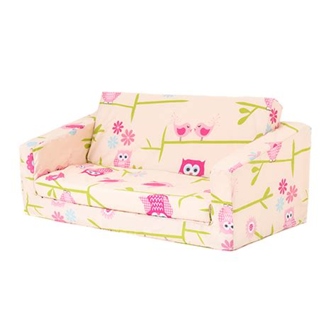 kids couch fold out owls kids flip out lily sofa bed sleep over fold out