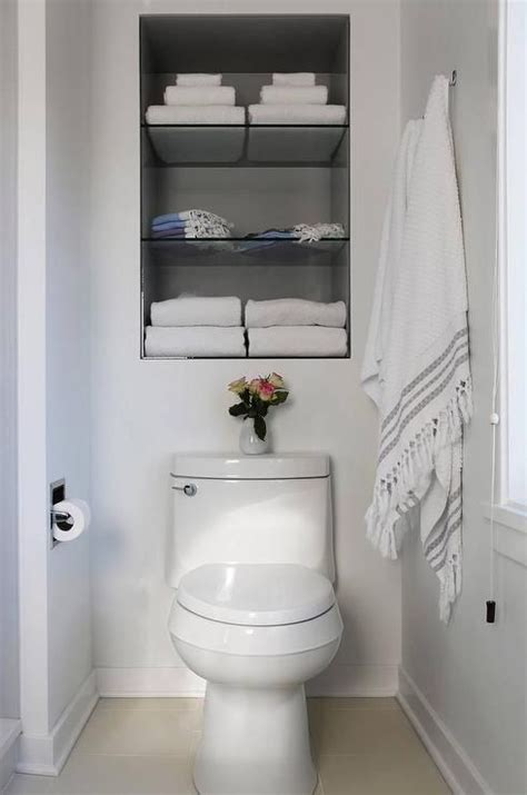 bathroom alcove shelves 17 best ideas about shelves over toilet on pinterest